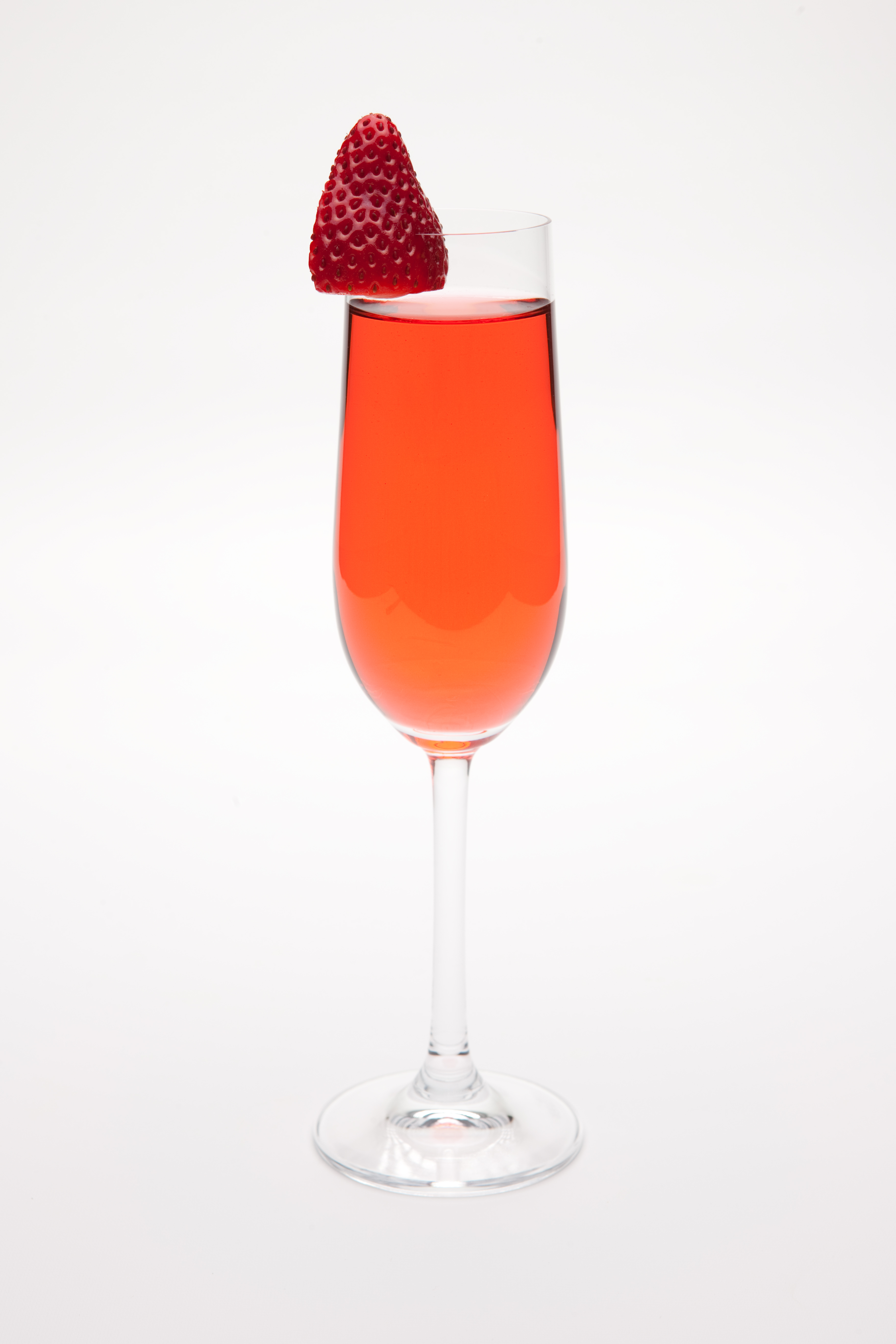 Strawberry Kir Champagne Cocktail Drink Recipe